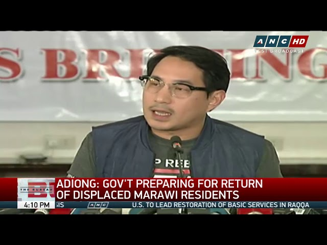 Adiong: Gov't preparing for return of displaced Marawi residents