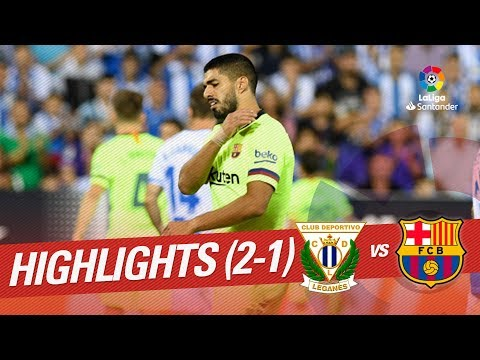 Resumen de CD Leganés vs FC Barcelona (2-1)
