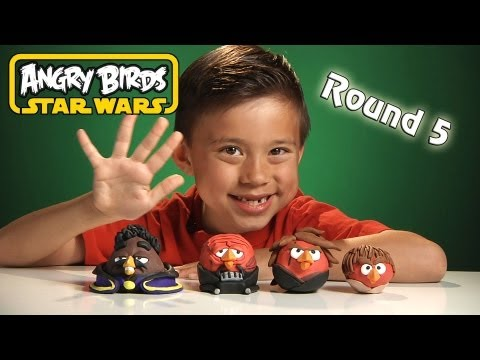 NEW Angry Birds STAR WARS Clay Models (Round 5) - Lando Calrissian Bird + 3 Anakin Birds