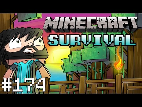 Minecraft : Survival - Part 174 - Cow Hunting