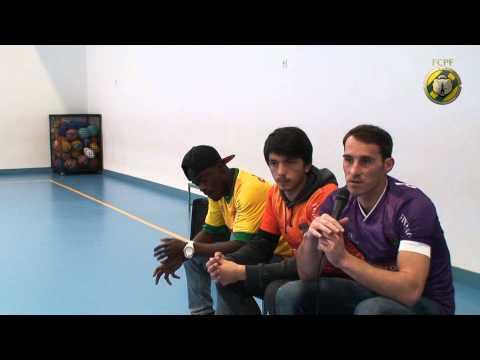 Ant�nio Filipe, Marco e Barnes no Centro Escolar de Sobrosa