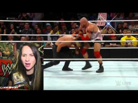 WWE Raw 1/5/15 Handicap Rollins and Kane vs Ryback Live Commentary