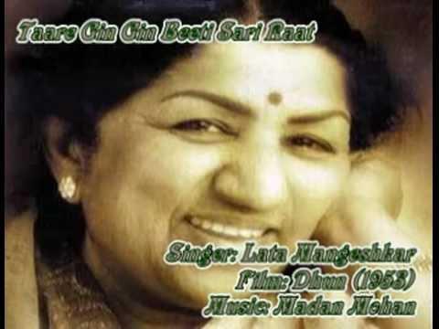 Taare Gin Gin Beeti Sari Raat-Lata Mangeshkar-Dhun (1953).flv...