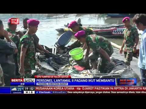 Personel Lantamal II Padang Ikut Bantu Bersihkan CPO di Teluk Bayur
