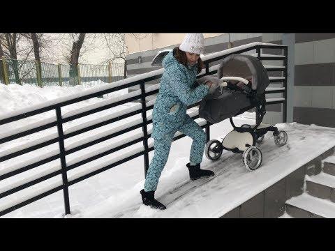 КАК ВЫЙТИ с коляской из подъезда И НЕ УПАСТЬ?