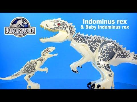 Jurassic World Adult & Baby Indominus rex LEGO KnockOff Big Figures