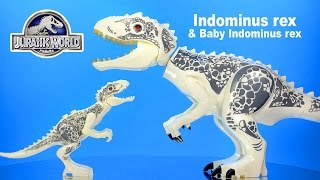 Jurassic World Adult & Baby Indominus rex LEGO KnockOff Big Figures