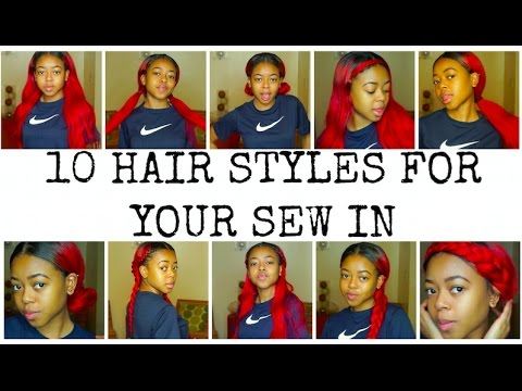 10 HAIRSTYLES FOR YOUR MIDDLE PART SEW IN   ARIE BRIANNA