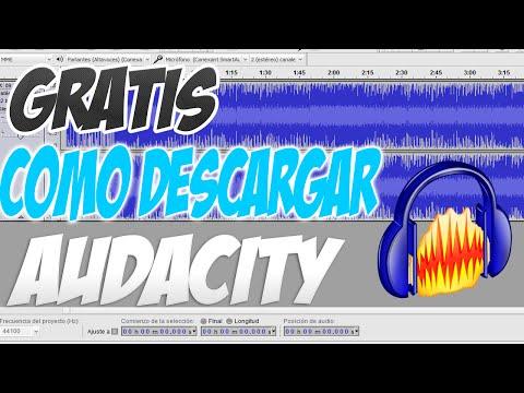 Como descargar Audacity Full Gratis en español 2014