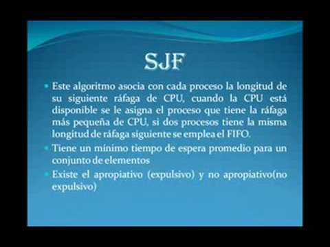Algoritmos de Planificacion FIFO Y SJF