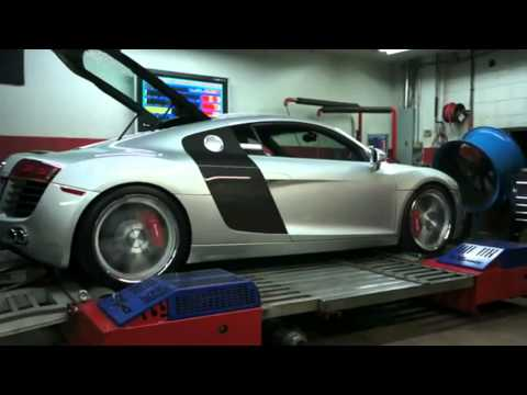 PES M112 Supercharged Audi R8 607hp dyno run