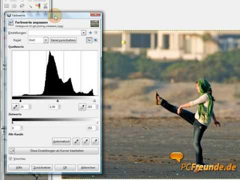 Tonwertkorrektur mit GIMP