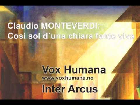 Монтеверди Клаудио - Cosi sol d