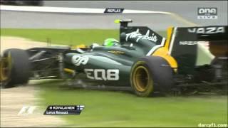 Heikki Kovalainen F1 Crash Compilation