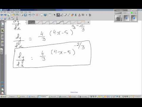 Finding the derivative of cube root of (4x- 5) -   In Hindi