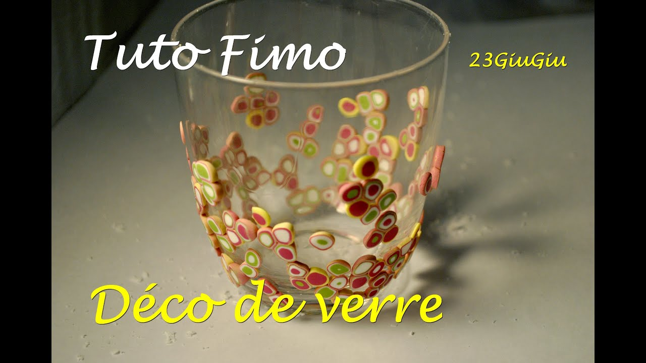 Tuto fimo no l la d co de verre pour no l youtube for Mortier pour brique de verre