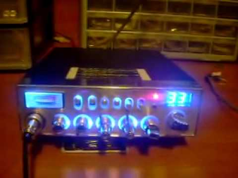 UNIDEN PC 78 ELITE DONE IN BLUE WITH MOSFET FINAL ECHO TALKBACK RK-56 MIC SUPER TUNE