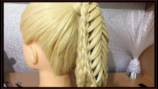 HAIRSTYLES FOR LONG HAIR / crossover basket braid / HairGlamour Styles /