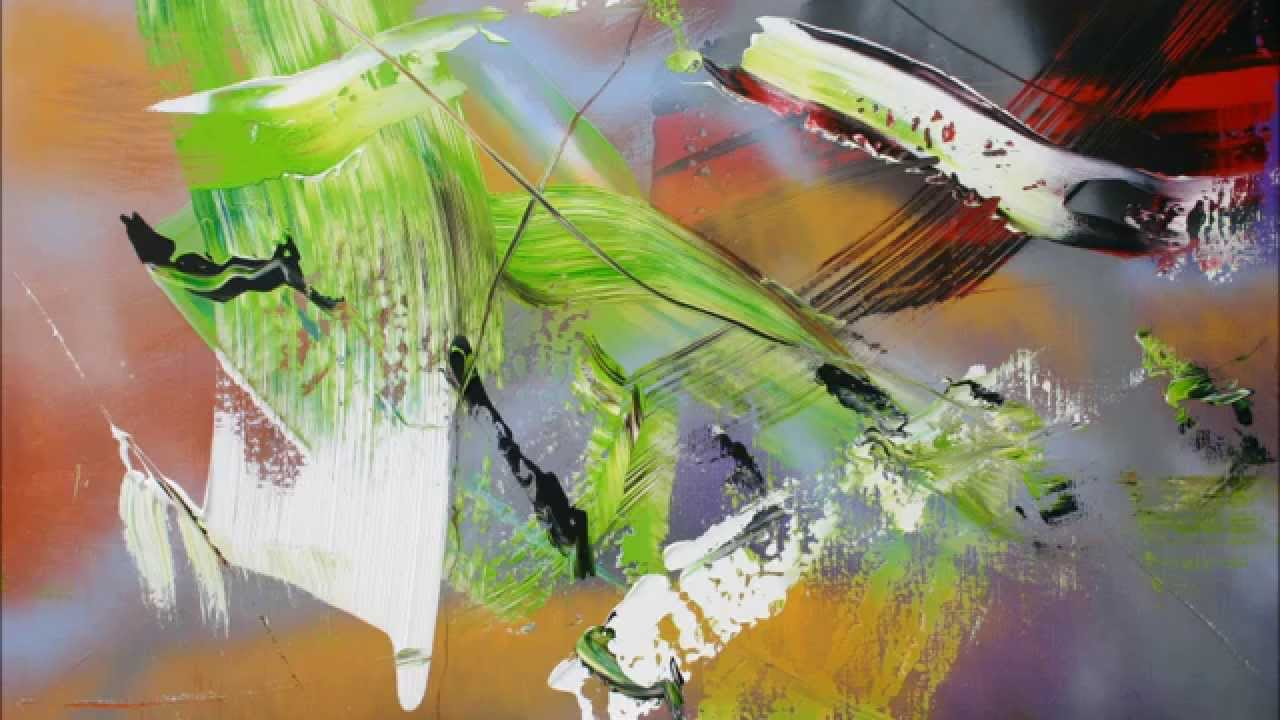 Learn to paint airy abstract painting with acrylic spray for Learn to paint with acrylics