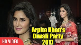Katrina Kaif At Salman Khan's Sister Arpita Khan's Diwali Party 2017 | Arpita Khan's Diwali Party