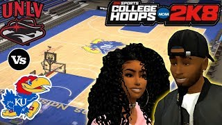 College Hoops 2K8 - MyCareer - First Date! - #1 UNLV Vs #4 Kansas! -