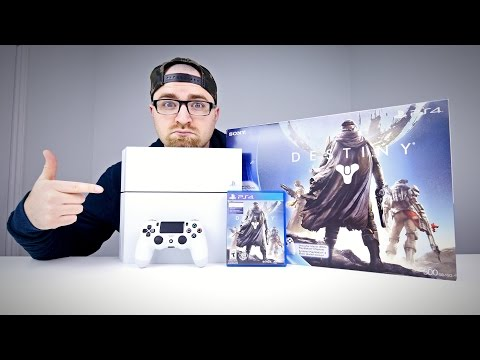Glacier White PS4 Unboxing (Destiny Bundle)