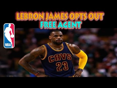 LEBRON JAMES OPTS OUT | FREE AGENT | (NBA 2K15)