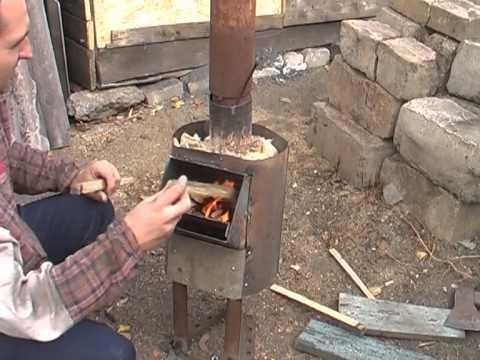 Печь длительного горения своими руками из газового