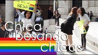 CHICA BESANDO CHICAS - Experimento Social    QUEFISHTV
