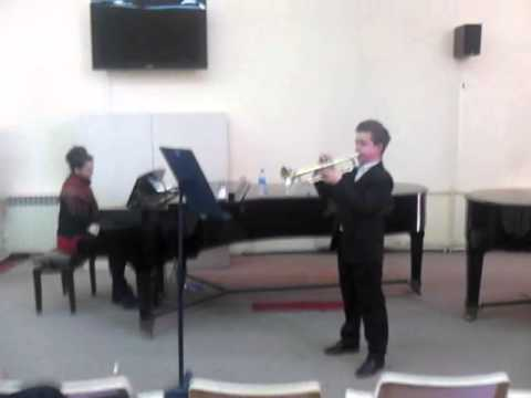 2013 Mite Nastov on competitions in Skopje,Macedonia-Trumpet,FIRST
