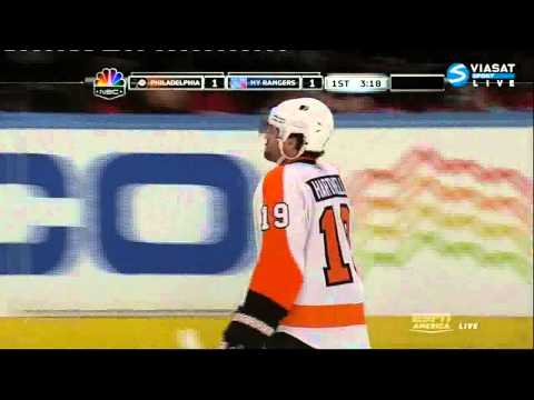 [HD] Goal Jeff Carter (Flyers & Rangers) NHL 02/20/11