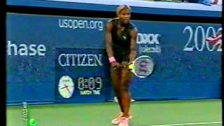 Serena Williams 1R US open 2002, part 1