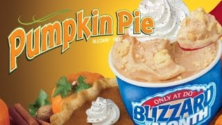CarBS - Dairy Queen Pumpkin Pie Blizzard