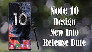 Galaxy Note 10 is INSANE - New Details Revealed + Release Date