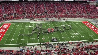 The Ohio State Marching Band Oct. 18 halftime show:  Classic Rock