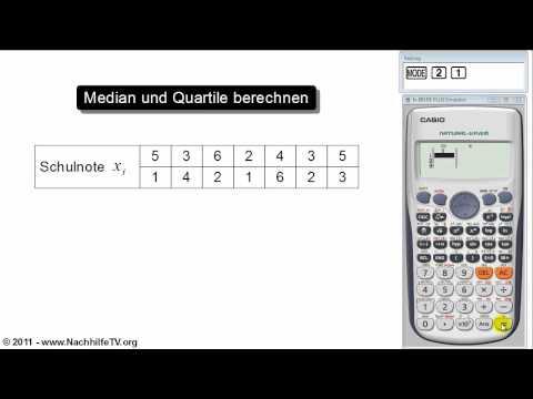 mathe video median und quartile berechnen von beobachtungswerten taschenrechner nachhilfetv. Black Bedroom Furniture Sets. Home Design Ideas