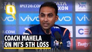 Coach Mahela Jayawardene on Mumbai's Loss to SRH   The Quint