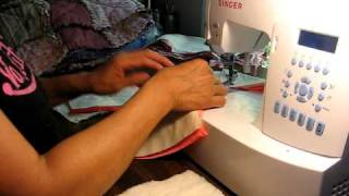 Tutorial 1 como hacer  colcha deshilado ( Rag quilt) English annotations