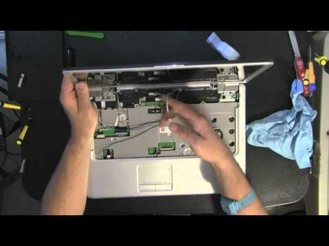 DELL INSPIRON 1525 1526 laptop take apart video. disassemble. how to open disassembly