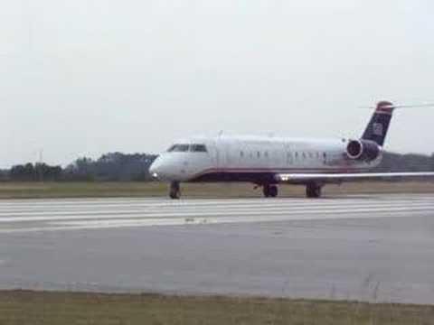 US Airways CRJ-200 Takeoff at PGV