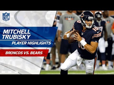 Every Mitchell Trubisky Throw Against Denver Broncos Vs Bears Preseason