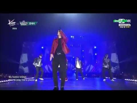 150423 GOT7 Jackson Mark & 2PM Jun.K  -  True Swag MnetKCON live perform