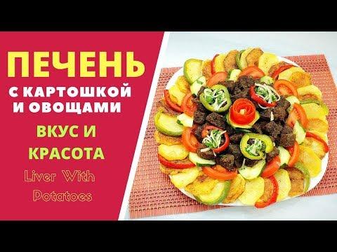 Печень с картошкой - Liver with potatoes