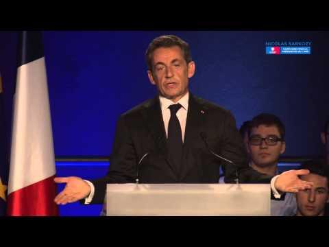 Nicolas Sarkozy en meeting à Nice