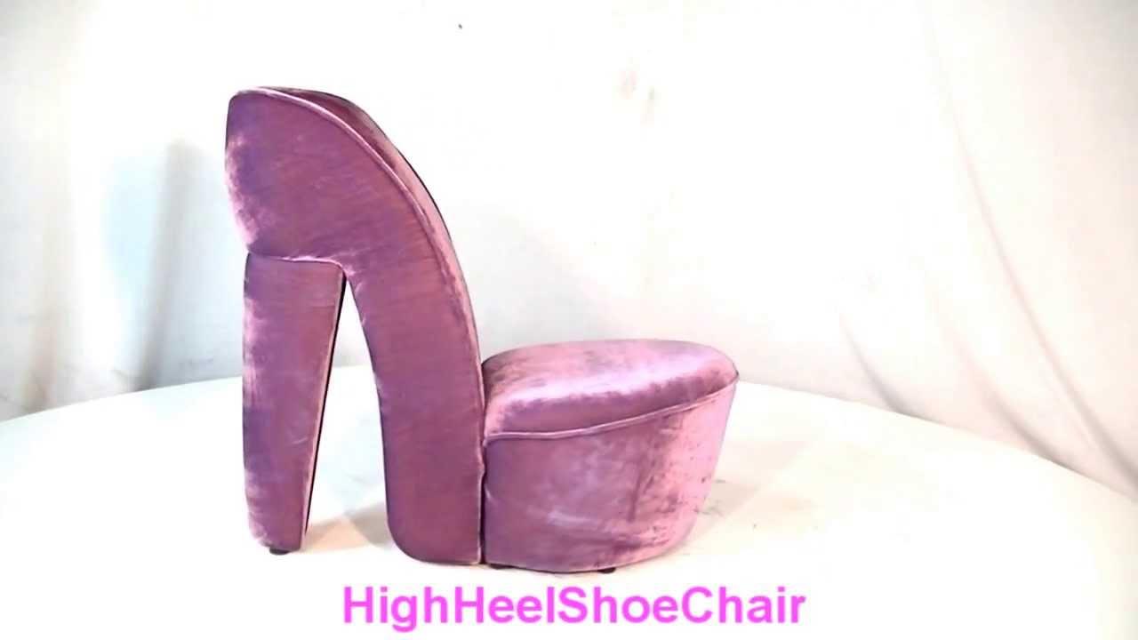 Purple High Heel Shoe Chair