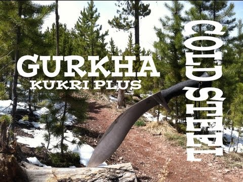 Cold Steel Gurkha Kukri Plus Field Test & Knife Review