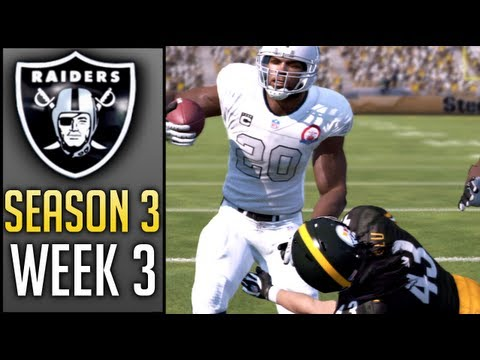 Madden 13 Connected Careers (Raiders): Week 3 @ Steelers (Season 3)