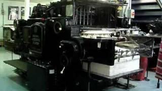 Heidelberg Cylinder Letterpress Printing London 01:34