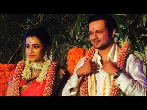Watch: Actress Trisha Krishnan Engagement Ceremony video