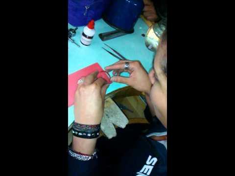 Montaje de piezas con yeso 1